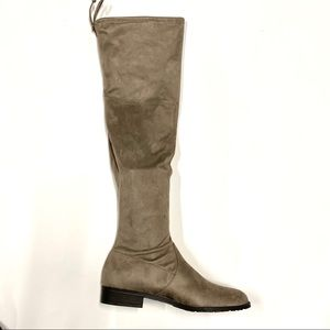 Taupe over the knee boots 10